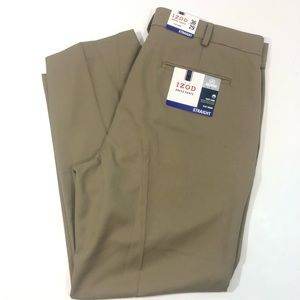 IZOD Flat front, straight dress pants